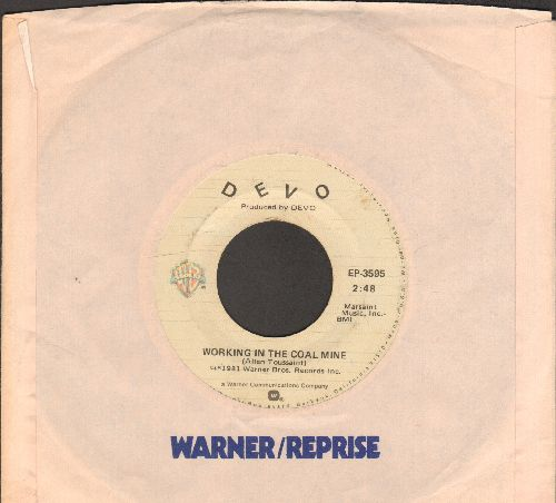 Devo - Working In The Coal Mine (double-A-sided with Warner Brothers company sleeve) - VG7/ - 45 rpm Records