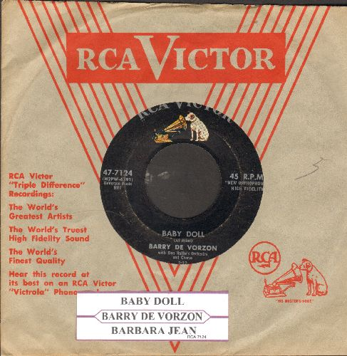 De Vorzon, Barry - Baby Doll/Barbara Jean (with juke box label and RCA company sleeve) - VG7/ - 45 rpm Records