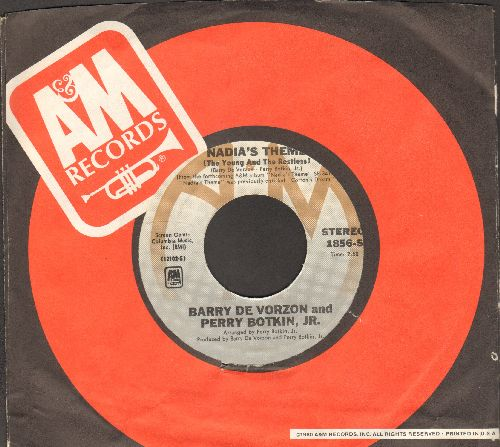 De Vorzon, Barry & Perry Botkin Jr. - Nadia's Theme (The Young And The Restless)/Down The Line (with A&M company sleeve) - EX8/ - 45 rpm Records