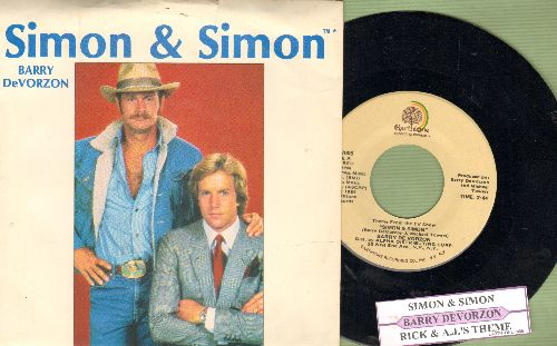 De Vorzon, Barry - Theme From -Simon & Simon-/Rick & A.J.'s Theme (with picture sleeve and juke box label) - NM9/EX8 - 45 rpm Records