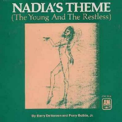 De Vorzon, Barry & Perry Botkin Jr. - Nadia's Theme (The Young And The Restless)/Down The Line (with picture sleeve, NICE condition!) - NM9/VG7 - 45 rpm Records