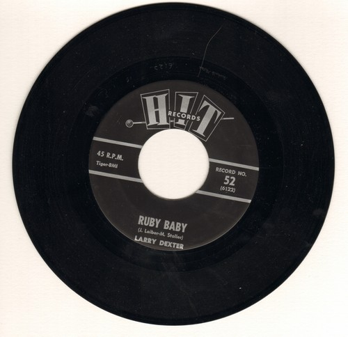 Dexter, Larry - Ruby Baby/You're The Reason I'm Living (by Rett Hardin on flip-side) (contemporary cover versions of hit songs) - VG7/ - 45 rpm Records