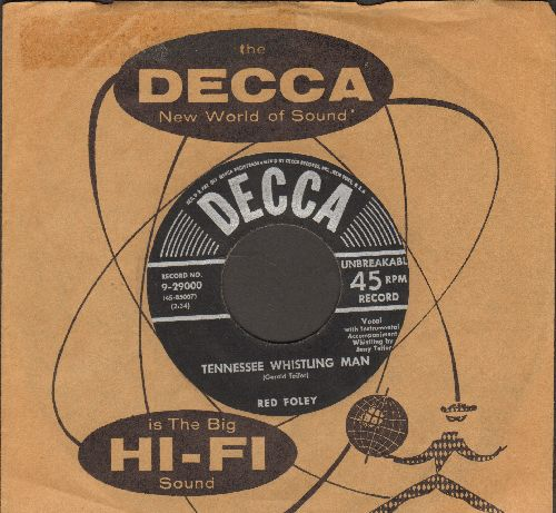 Foley, Red - Tennessee Whistling Man/As Far As I'm Concerned (with vintage Decca company sleeve) - VG7/ - 45 rpm Records
