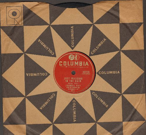 Ray, Johnnie - Just Walking In The Rain/In The Candlelight (RARE 10 inch 78 rpm record with Columbia company sleeve) - EX8/ - 45 rpm Records