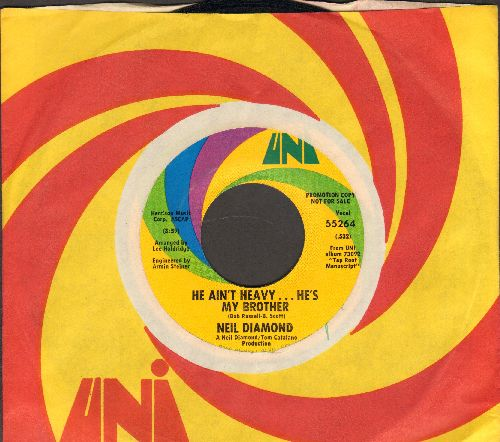 Diamond, Neil - He Ain't Heavy…He's My Brother/Free Life (MINT condition with original company sleeve) - M10/ - 45 rpm Records