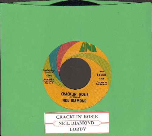 Diamond, Neil - Cracklin' Rosie/Lordy (with juke box label) - EX8/ - 45 rpm Records