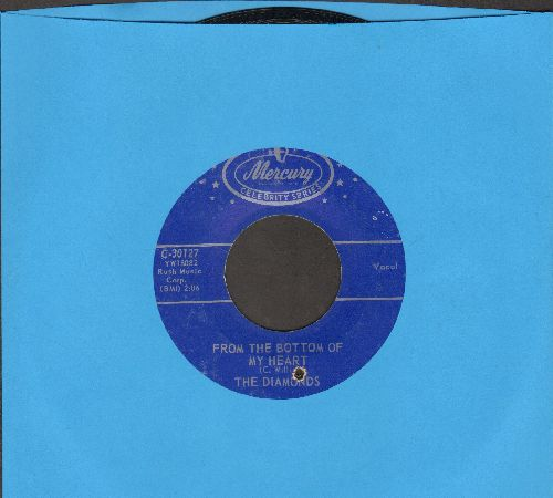 Diamonds - From The Bottom Of My Heart/She Say (Oom Dooby Doom) (double-hit re-issue) (bb) - EX8/ - 45 rpm Records