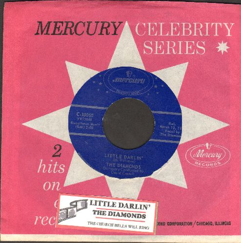 Diamonds - The Church Bells May Ring/Little Darlin' (double-hit re-issue with company sleeve and juke box label) - NM9/ - 45 rpm Records