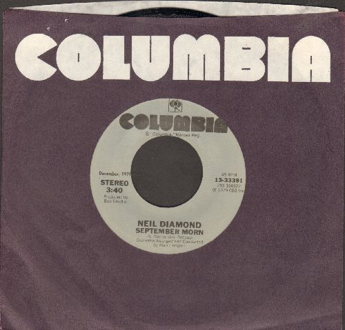 Diamond, Neil - September Morn/Say Maybe (double-hit re-issue with Columbia company sleeve) - NM9/ - 45 rpm Records