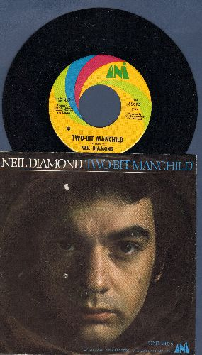 Diamond, Neil - Two-Bit Manchild/Broad Old Woman (with picture sleeve)(bb) - NM9/EX8 - 45 rpm Records