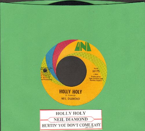 Diamond, Neil - Holly Holy/Hurtin' You Don't Come Easy (with juke box label) - NM9/ - 45 rpm Records