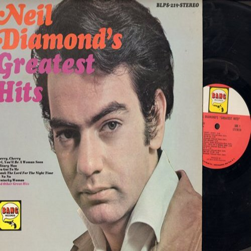 Diamond, Neil - Neil Diamond's Greatest Hits: Cherry Cherry, New Orleans, Red Red Wine, Hanky Panky, Do It, Girl You'll Be A Woman Soon (Vinyl STEREO LP record, NICE condition!) - NM9/NM9 - LP Records