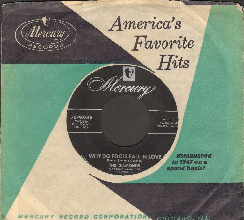 Diamonds - Why Do Fools Fall In Love/You Baby You (with vintage Mercury company sleeve) - EX8/ - 45 rpm Records