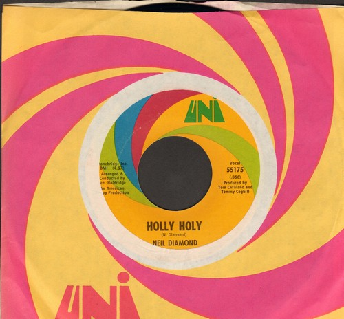 Diamond, Neil - Holly Holy/Hurtin' You Don't Come Easy (with Uni company sleeve) - EX8/ - 45 rpm Records