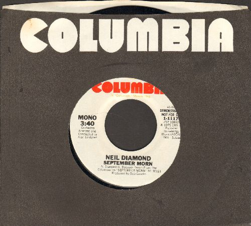 Diamond, Neil - September Morn (double-A-sided DJ advance pressing with Columbia company sleeve) - M10/ - 45 rpm Records