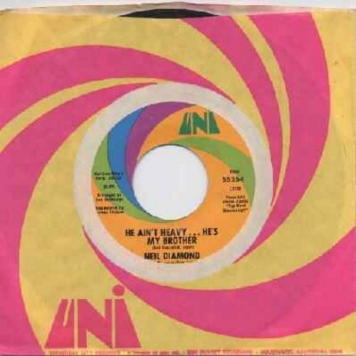 Diamond, Neil - He Ain't Heavy…He's My Brother/Free Life (with original company sleeve) - EX8/ - 45 rpm Records