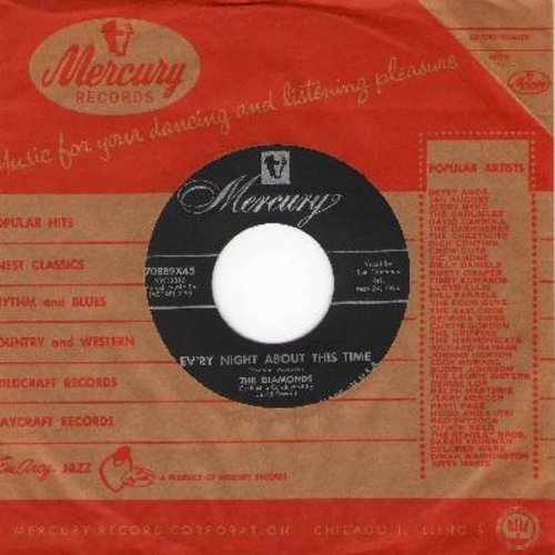 Diamonds - Ev'ry Night About This Time/Love, Love, Love (with vintage Mercury company sleeve) - EX8/ - 45 rpm Records