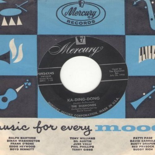 Diamonds - Ka-Ding-Dong/Soft Summer Breeze (with vintage Mercury company sleeve) - NM9/ - 45 rpm Records