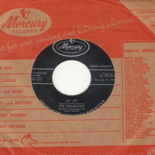 Diamonds - Zip Zip/Oh, How I Wish (with Mercury company) - EX8/ - 45 rpm Records