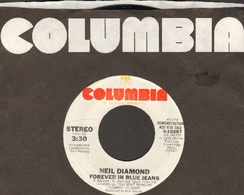Diamond, Neil - Forever In Blue Jeans (double-A-sided DJ advance pressing with Columbia company sleeve) - M10/ - 45 rpm Records