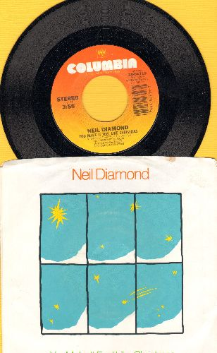 Diamond, Neil - You Make It Feel Like Christmas/Crazy (with picture sleeve) - NM9/EX8 - 45 rpm Records