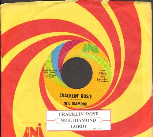 Diamond, Neil - Cracklin' Rosie/Lordy (with juke box label and Uni company sleeve) - EX8/ - 45 rpm Records