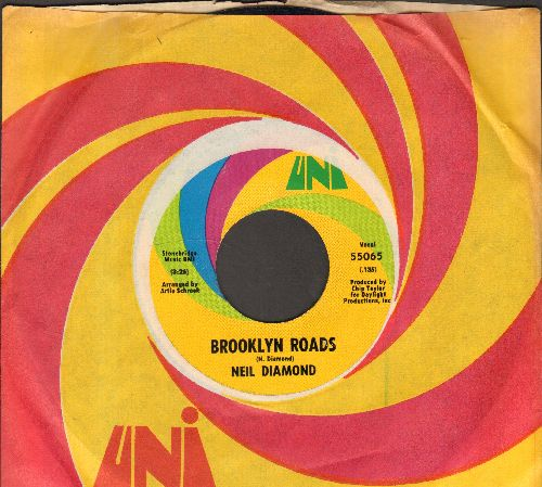 Diamond, Neil - Brooklyn Roads/Holiday Inn Blues (MINT condition with Uni company sleeve) - M10/ - 45 rpm Records