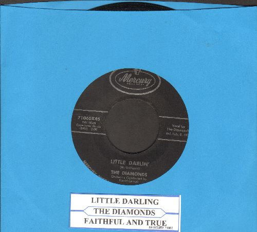 Diamonds - Little Darlin'/Faithful And True  - EX8/ - 45 rpm Records