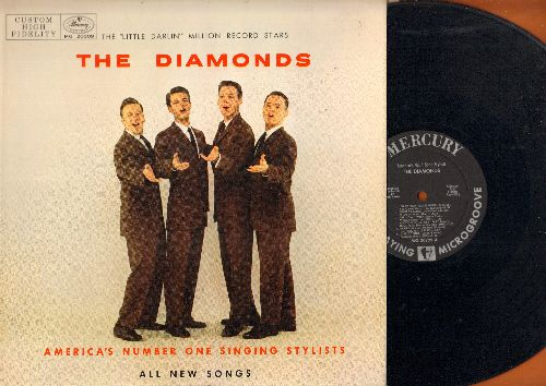 Diamonds - The Diamonds - America's Number One Singing Stylists: One And Only, Girl Of Mine, Zip Zip, Cool Cool Baby, My Dog Likes Your Dog, Honey Bird, You Are The Limit (Vinyl MONO LP record, 1958 first issue) - NM9/EX8 - LP Records