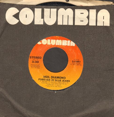 Diamond, Neil - Forever In Blue Jeans/Remember Me (with Columbia company sleeve) - VG7/ - 45 rpm Records