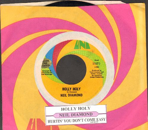 Diamond, Neil - Holly Holy/Hurtin' You Don't Come Easy (with juke box label and Uni company sleeve) - NM9/ - 45 rpm Records