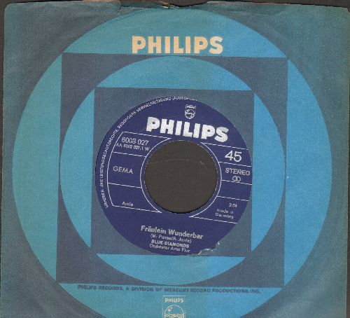 Blue Diamonds - Fraulein Wunderbar/Girl,Girl, Girl (GERMAN Pressing with Philips company sleeve) - EX8/ - 45 rpm Records