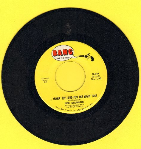 Diamond, Neil - I Thank The Lord For The Night Time/The Long Way Home - EX8/ - 45 rpm Records