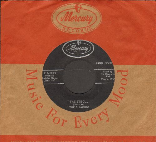 Diamonds - The Stroll/Land Of Beauty (with vintage Mercury company sleeve) - EX8/ - 45 rpm Records
