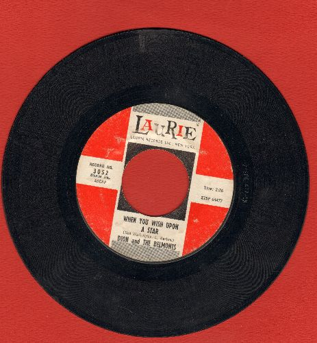 Dion & The Belmonts - When You Wish Upon A Star/Wonderful Girl - VG6/ - 45 rpm Records