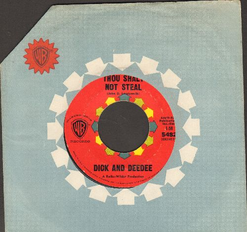 Dick & Dee Dee - Thou Shalt Not Steal/Just 'Round The River Bend (red label early pressing with company sleeve) - NM9/ - 45 rpm Records