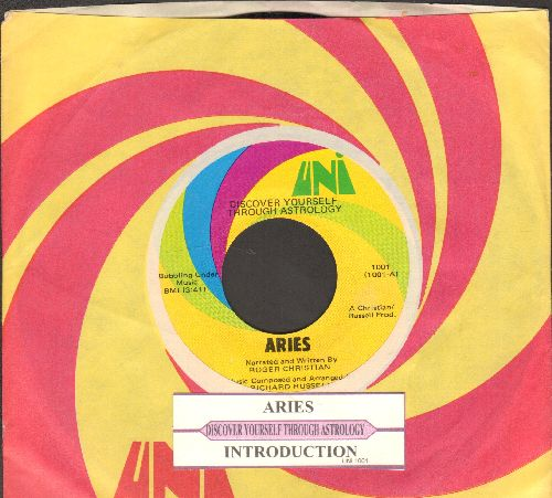 Dscover Yourself Through Astrology - Aries/Introduction (with juke box label and Uni company sleeve) - NM9/ - 45 rpm Records
