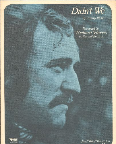 Harris, Richard - Didn't We - Vintage SHEET MUSIC for the song made popular by Richard Harris (This is SHEET MUSIC, not any other kind of media!) - EX8/ - Sheet Music