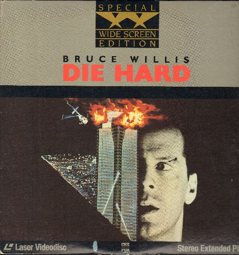 Die Hard - Die Hard - The Action Classic on 2 LASERDISCS, Special Wide Screen Edition in gate-fold cover! - NM9/NM9 - LaserDiscs
