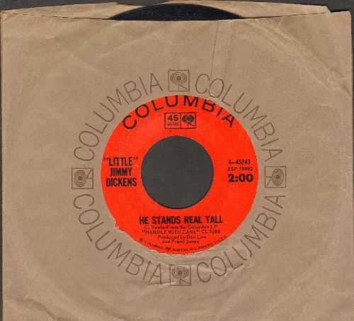 Dickens, Little Jimmy - He Stands Real Tall/Life Turned Her That Way (with Columbia company sleeve) - EX8/ - 45 rpm Records