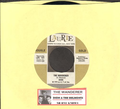 Dion - The Wanderer/No One Knows (double-hit re-issue with juke box label) - NM9/ - 45 rpm Records