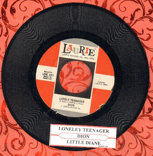 Dion - Lonely Teenager/Little Miss Blue (with juke box label) - NM9/ - 45 rpm Records