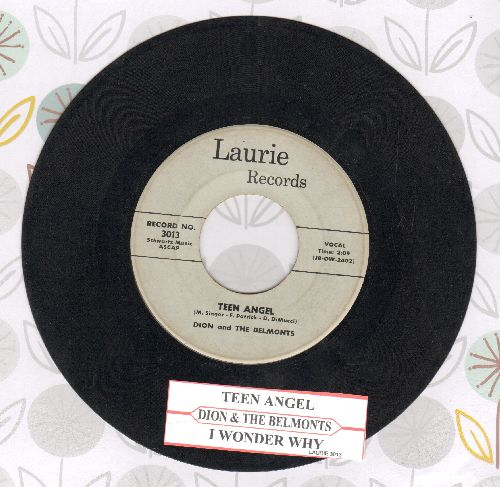 Dion & The Belmonts - Teen Angel/I Wonder Why (with juke box label) - VG7/ - 45 rpm Records