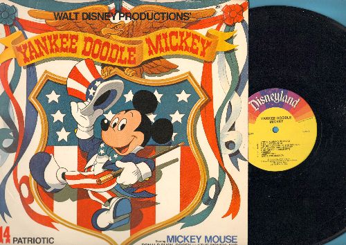 Disney - Yankee Doodle Mickey: God Bless America, Battle Hymn Of The Republic, Star Sprangled Banner (Vinyl LP record) - EX8/EX8 - LP Records