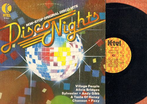 Taste Of Honey, Village People, Foxy, Sylvester, others - Disco Nights: Boogie Oogie Oogie, Get Off, Macho Man, I Love The Night Life, more! (vinyl STEREO LP record) - NM9/VG7 - LP Records