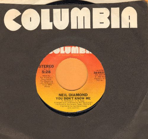 Diamond, Neil - You Don't Know Me/Heatlight (with Columbia company sleeve) - EX8/ - 45 rpm Records