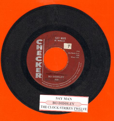Diddley, Bo - Say Man/The Clock Strikes Twelve (with juke box label) - VG7/ - 45 rpm Records