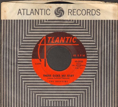 Drifters - There Goes My Baby/Oh My Love (with RARE vintage Atlantic company sleeve) - EX8/ - 45 rpm Records