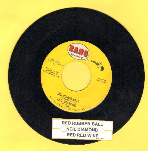 Diamond, Neil - Red Rubber Ball/Red Red Wine (with juke box label)(wol) - EX8/ - 45 rpm Records