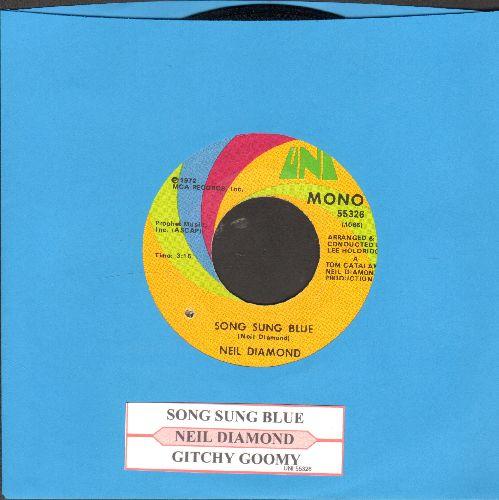 Diamond, Neil - Song Sung Blue/Gitchy Goomy (with juke box label) - NM9/ - 45 rpm Records